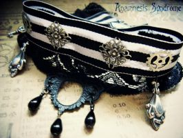 Steampunk Stripes choker by Verope
