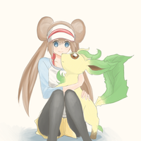 Mei and Leafeon by Joltik92