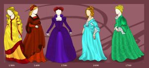 Fashion: Medieval to Rococo by WisdomsPearl