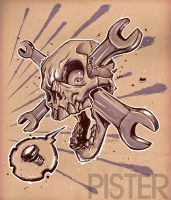 Skull Wrench by RodgerPister