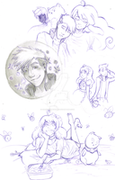 Bee and Puppycat FanArt (Uncolored) by DarkMewMewSun