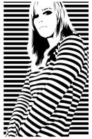 Striped Girl Stencil by Kerblotto