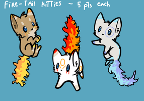 Tribal Fire- tail Kitties - CLOSED by RivotAdopts
