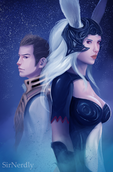 Fran and Balthier by SirNerdly