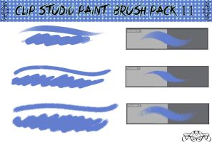 Clip Studio Paint Brush Pack 11 by Katarina-Kirishiki