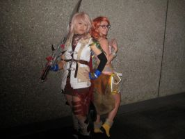 Lightning and Vanille! by RaindropCosplay