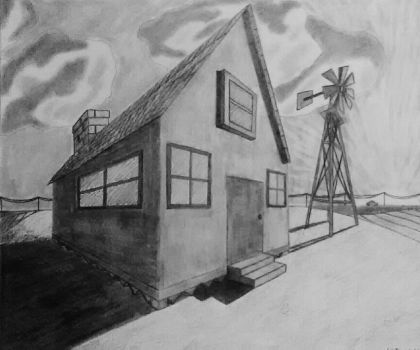 Small Farm House (two-point perspective) by Shankya