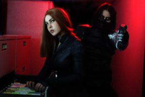 The Winter Soldier and The Black Widow by LaneDevlin