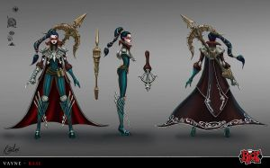 Vayne Base skin concept art by RitaLux