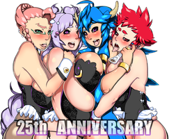 25th Anniversary ! by Dragoon-Rekka
