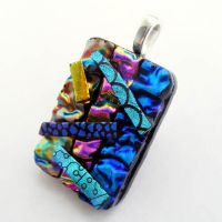 3D Abstract Fused Glass 2 by Create-A-Pendant