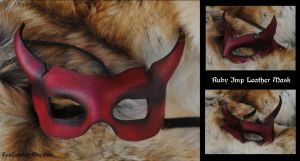 Ruby Imp Leather Mask by Epic-Leather