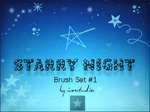 Starry Night Brush Set 1 by iconstudios