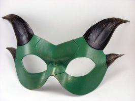 Demi Dragon Domino Masquerade Mask by LucyLovesLeather