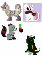 Old ocs/adopts for sale prt 1 by Turtlewuff