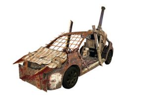 Post apoc steam car by wetcorps