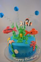 Aquarium Cake by queen382