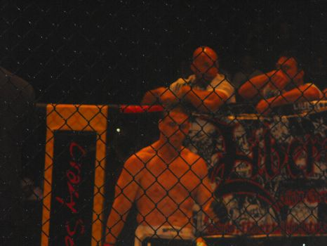 Ken Shamrock in the Cage by Shame-On-The-Night