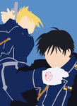 Roy Mustang and Riza Hawkeye: Minimalist wallpaper by KataSangoHaruhi