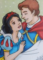 Snow and Charming ACEO card by LadyNin-Chan