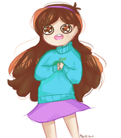 a very excited mabel by m0chi-kun