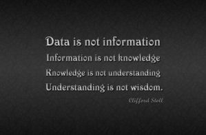 Data is not information by qazinahin