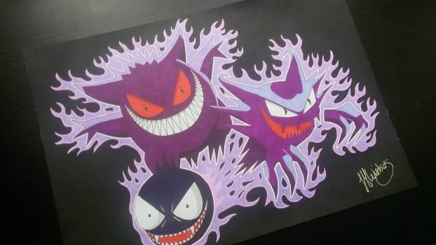 Ghost Pokemon by moon-drawing