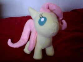 Fluttershy filly plush by millylilly14