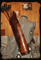 leather quiver elven by Lagueuse