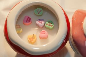 Conversational Hearts in a candle by Pancake598