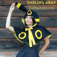 Umbreon Pokemon Gijinka Cosplay Capelet by DarlingArmy