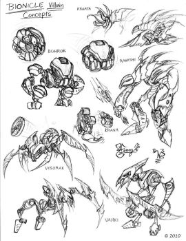 Bionicle Concepts-1 by Wacom-Bot