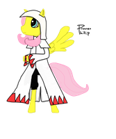 White Mage Fluttershy by Phillnana