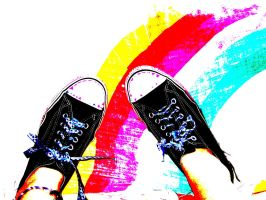 .:Rainbows and Converse:. by Conspiracy-Z-Cycle