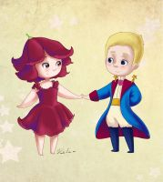 Little prince and rose by danieru-chan