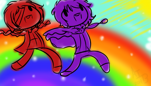 leT'S RUN OVER THE RAINBOW by Ask-InsaneBrotato
