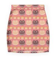 Cookie Cats and Lion Lickers - Pencil Skirt by nillustore