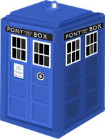 Doctor Whooves' Tardis Vector by CaptainBritish