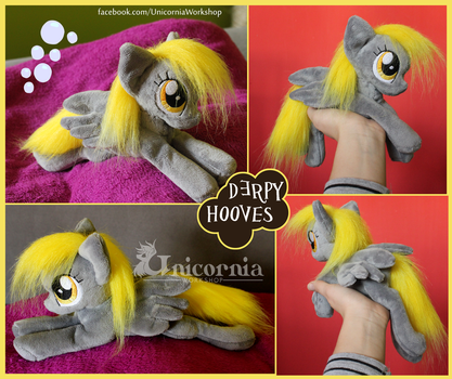 + Derpy Hooves floppy plushie + by Unicornia-Workshop