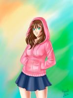 Pink Hoodie by Raevell
