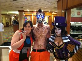 CL4P-TP, Psycho, and Moxxi by SailorDerp