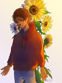 sunflower boy by Cleeare