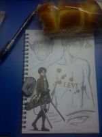 Levi Ackerman sketch. by 13Kitty95
