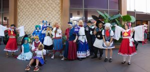Touhou Gathering - ALA 2013 - Group Shot by EriTesPhoto