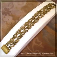 Brass Bracelet by blackcurrantjewelry