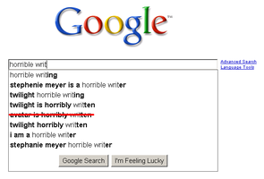 Google REALLY hates Twilight by wintercool612