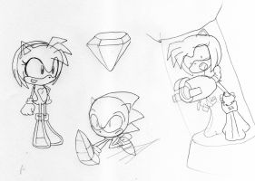 Amy Rose Sketchs by toongrowner