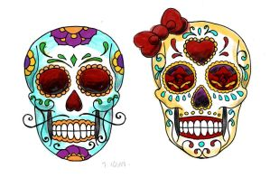 skull candy sketches by smarelda
