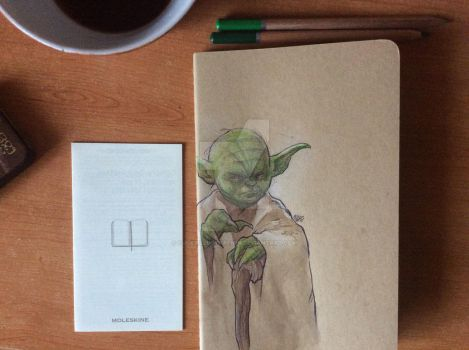 Yoda Moleskine by cucksillustration