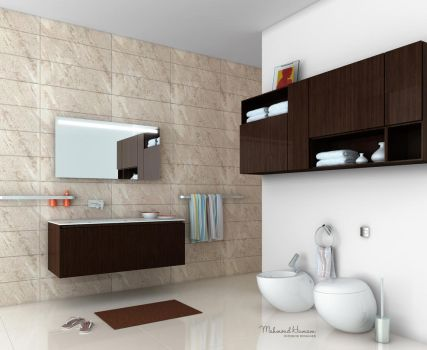 Clean Bathroom by Overstone